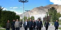 丁业现常务副书记一行莅临西藏大学考察调研 - 西藏大学