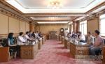 教育部人事司张国辉副巡视员一行到我校看望慰问援藏干部 - 西藏民族学院
