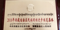 """马克思主义学院荣获2018年度西藏自治区""""民族团结进步模范集体""""荣誉称号 - 西藏民族学院"""